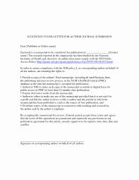 Manuscript Submission Cover Letter Example Awesome Journal