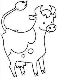 Download Coloring Pages Cow Page