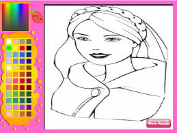 Play Barbie Colouring Games Online