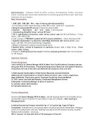 Sample Hr Director Resume Manager Templates