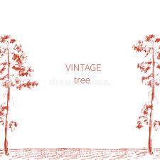 l arbre a cadre esquissez l arbre cadre tiré par la de vecteur d isolement