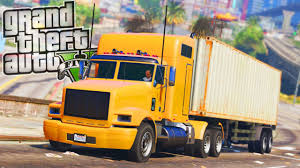 Truck Driver Job! - GTA 5 Real Life Mod - Day 20 - YouTube