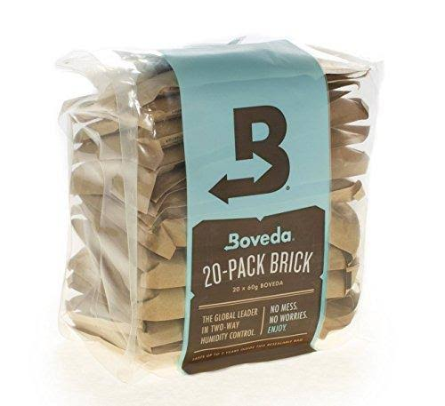 Boveda 62% RH 2 Way Humidity Control, Large 67 Gram Size, 20-Pack Bulk Brick