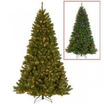 National Tree Company 9 Ft PowerConnect North Valley Spruce Artificial Christmas With Dual Color