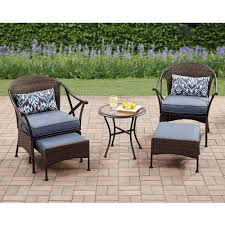 100 Mainstay Wicker Outdoor Chairs Patio Furniture Set 5 PC Rattan Table Garden Deck