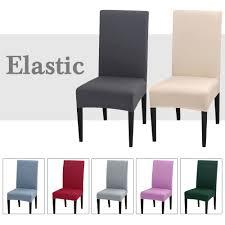 1 2 4pcs einfarbig stuhl abdeckung spandex stretch elastische hussen stuhl abdeckungen weiß für esszimmer bankett hotel küche