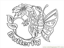 Butterfly Coloring Pages 1 Page