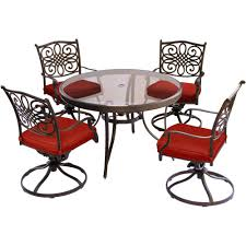 Hanover Traditions 5-Piece Aluminum Outdoor Dining Set With Swivel ... Hanover Traditions 5piece Alinum Outdoor Ding Set With Swivel Chairs With Casters A R T Valencia Castered Chair In Indoor Chromcraft Kitchen Revington Table Amazoncom Morocco Square And Four On Wheels Tvdesignorg Astounding Value City Fniture Room Cool Haddie 8 Cancupinfo Mesmerizing Cheap Dinette Sets Immaculate Lowes Sling Covers Six Patio Cushion Tilt Coaster Mitchelloak 5 Piece 3in1 Game Alkar Billiards