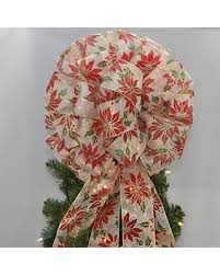 Poinsettia Christmas Tree Topper Bow
