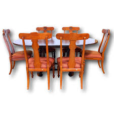 Ethan Allen Bombe Secretary Desk by Ethan Allen Dining Table With 6 Chairs Upscale Consignment