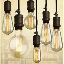 40w vintage retro filament light bulbs industrial style lights