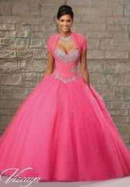 quinceanera dresses by vizcaya tulle ballgown with basque waist
