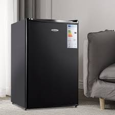 costway kühlschrank mit gefrierfach 123 l gefrierkombination