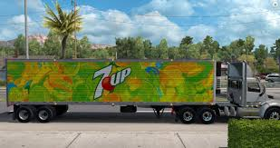 100 Pacella Trucking 7up Reefer Trailer ATS Mods American Truck Simulator Mods