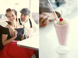 A 50s Retro Diner Engagement