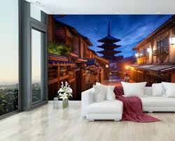 wandmotiv24 fototapete japanische landschaft feld
