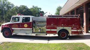 100 Black Fire Truck Angier River Department Apparatus