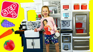 Step2 Kitchens U0026 Play Food step 2 grand luxe play kitchen helps ava cook and pretend play