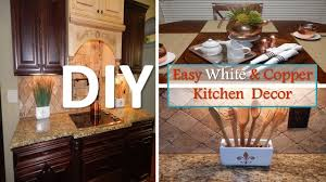 DIY Easy White And Copper Kitchen Decor With Dollar Tree Items