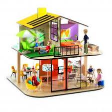 djeco puppenhaus colour house djeco