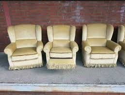 sofa sessel set sitzgarnitur wohnzimmer retro antik