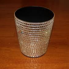 poubelle bureau bling ronde cristal strass poubelles papier panier bureau poubelle