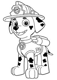 Paw Patrol Marshall Coloring Page