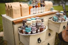 Beautiful Bridal Rustic Wedding Favor Displays