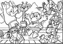 Garden Scene Coloring Pages Zoo Animals Coloring Pages Outdoor