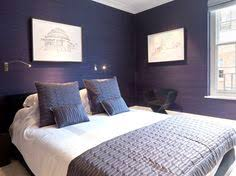 Deep Purple Bedrooms by Love This Deep Purple Bedroom Uses The Anna Damask Stencil As An