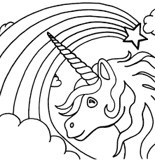 Coloring Pages Unicorn Color Rainbow Free Printable Sheets Page Sheet