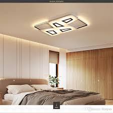 großhandel led deckenleuchte einfache moderne atmosphäre hause schlafzimmer nordic rechteckige beleuchtung deckenleuchte rc dimmbare pendelleuchten ac