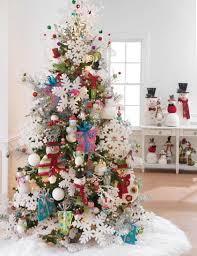 Frosty Snowman Christmas Tree by Decorated Christmas Tree Ideas Photo Gallery At Shelley B