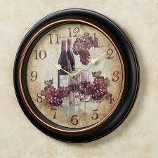 Grape Decor For Kitchen Cheap by Wall Clocks Touch Of Class