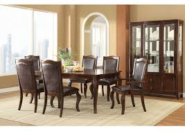 Coffee Cherry Dining Table 4 Chairs 2 Arm Buffet W
