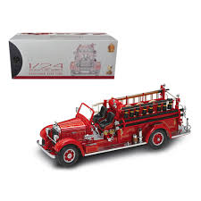 100 Fire Truck Accessories New 1935 Mack Type 75BX Red With 124 Diecast