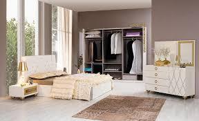 schlafzimmerset saray beige gold