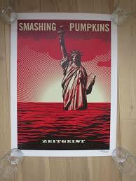 Smashing Pumpkins Zeitgeist Album Cover by Shepard Fairey Obey The Smashing Pumpkins