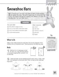 Snowshoe Hare Amazing Animal Art Project