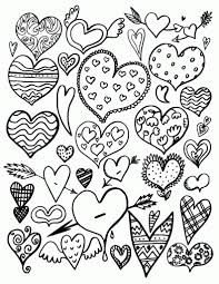 Print Coloring Free Heart Pages New At Page