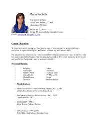 Formidable Resume Sample For B Ed Teacher Your Maria Rubab Cv Throughout