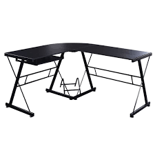 Small Glass And Metal Computer Desk by L Shape Black Wood Computer Desk Desks Office Furniture