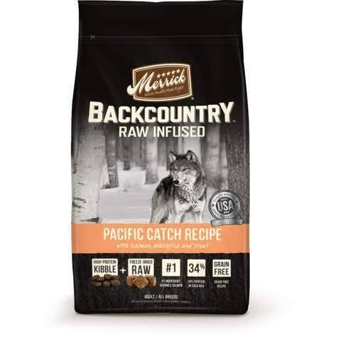 Merrick Backcountry Raw Infused Pacific Catch Recipe Adult Dry Dog Food - 12lb