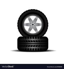 100 Truck Tires And Wheels Tires With Wheels And Shadow Royalty Free Vector Image