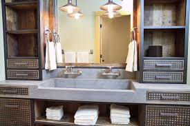 DA concrete sink and custom vanity Industrial Bathroom Other