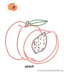 Peach Printable Free Coloring Page For Kids