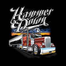 Big Rig American Trucker T Shirt Hammer Down Custom Free Shipping ...