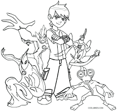 Ben 10 Coloring Pages Games Online Free Printable Ultimate Aliens To Print Full Size