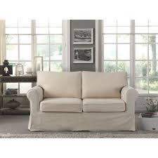 canap cosy cosy canapé droit 2 places 100 coton écru achat vente canapé