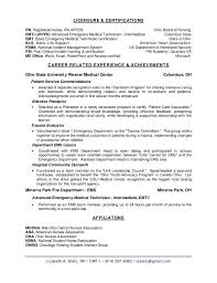 resume for firefighter paramedic paramedic description emt resume description emt